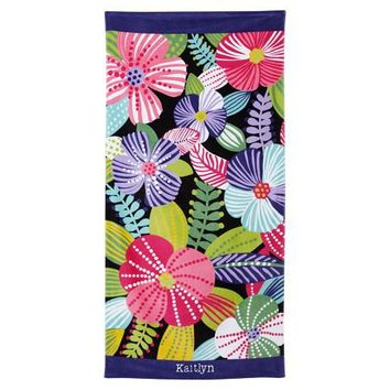 Speckled Floral Beach Towel