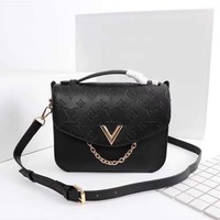 LV Louis Vuitton WOMEN'S LEATHER SADDLE HANDBAG INCLINED SHOULDER BAG