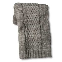 Threshold™ Cable Knit Throw Gray : Target