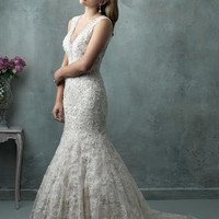 Allure Couture C326 Keyhole Back Wedding Dress