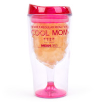 "Mean Girls ""I'm Not a Regular Mom, I'm a Cool Mom"" Plastic Wine Tumbler with Gummy Bears 