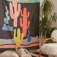 Zoe Wodarz For DENY Night Cactus Tapestry - Urban Outfitters
