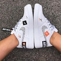 Samplefine2 Nike Air Force 1 Just Do It Fashion Women Men Casual Running Sport Shoes Sneakers