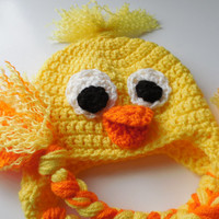 Duck Baby Hat - Crochet