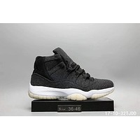 Nike Mens Air Jordan 11 Synthetic Basketball Shoes Jordan 11 Grey I-A0-HXYDXPF