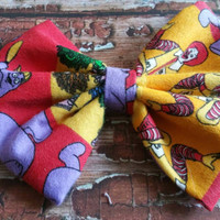 Vintage McDonald's extra large hair clip, Yellow and red hair bow, Retro hair bow, Pinup girl style hair bow, Fabric hair bow, teen hairbow