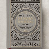 Five-Year Memory Journal by Anthropologie in Grey Size: One Size Books