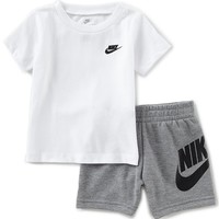 Nike Baby Boys 12-24 Months Crew Neck Short Sleeve Tee & Shorts Set | Dillards