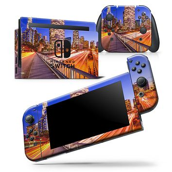 Fast City Life - Skin Wrap Decal for Nintendo Switch Lite Console & Dock - 3DS XL - 2DS - Pro - DSi - Wii - Joy-Con Gaming Controller