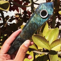 Labradorite Pipe - Long