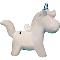Magical Unicorn Money Bank - White