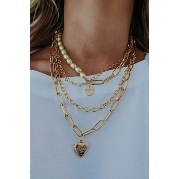 Love Story Necklace: Gold