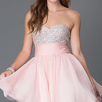 Short Strapless Sweetheart Dress by Alyce