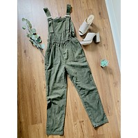 Rosemary Olive Overalls Jumpsuit