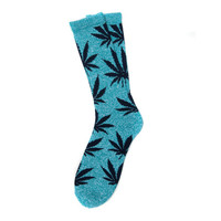 HUF - PLANTLIFE CREW SOCKS SP14 // JADE HEATHER / NAVY