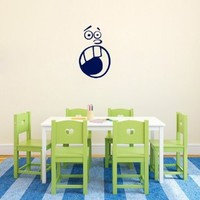 Wall Vinyl Decal Sticker Art Design Scared Face Room Nice Picture Decor Hall Wall Chu378