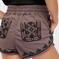 Free People Embroidered Short