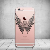 Wing iPhone 6 Case Clear iPhone 6s Case Clear iPhone 6 Case iPhone 5s Case iPhone 6s Plus Case Soft Silicone iPhone Case