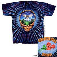 Grateful Dead - Owl Steal Your Face Tie Dye T Shirt on Sale for $25.95 at HippieShop.com