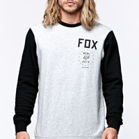 Fox Havoc Crew Fleece - Mens Hoodie - Grey