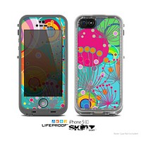 The Vibrant Colored Sprouting Shapes Skin for the Apple iPhone 5c LifeProof Case