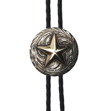 And West Bolo Collection Mens Two Tone Texas Star Bolo Tie
