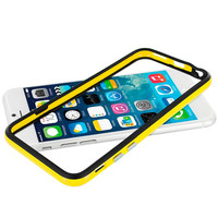 Black / Yellow TPU Bumper Frame Case Cover for Apple iPhone 6 Plus 6S Plus (5.5)