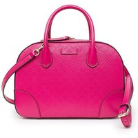 Gucci Diamante Small Satchel Blossom Hot Pink Leather Bag New