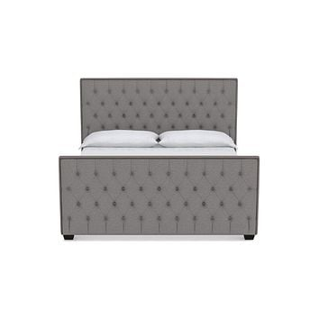 Huntley Tufted Upholstered Bed :: Leg Finish: Espresso / Size: Full Size