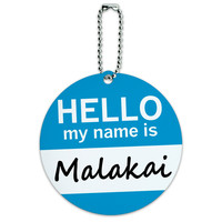 Malakai Hello My Name Is Round ID Card Luggage Tag