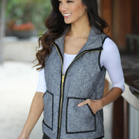 Black Vest With Pockets