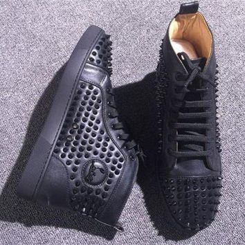 PEAPNW6 Cl Christian Louboutin Louis Spikes Style #1888 Sneakers Fashion Shoes