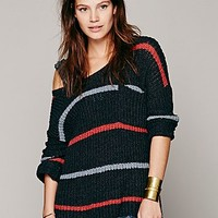 Free People Womens Complete In Stripes Pullover -