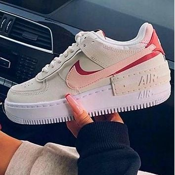 Onewel Nike Air Force 1 AF1 Low-Top Joker Flat Sneakers Shoes Color Add to edge Grey purple