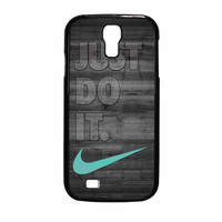 Nike Mint Just Do It Wooden Gray Samsung Galaxy S4 Case