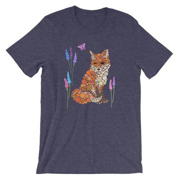 Fox Shirt Colorful Cute Graphic Fox Tee - Shipping Included