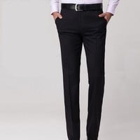 Newsosoo Men's Slim Fit Business Dress Pants