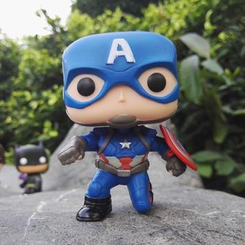 CUTE Exclusive MARVEL Civil War Captain America Funko Pop! Toys HOT SELL !