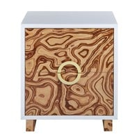 Cavalli Lacquer Burl Side Table / Nightstand