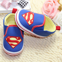 Baby Toddler Boy Kids Superman Canvas Crib Casual Shoes PreWalker Sneaker Comfy = 1946752196