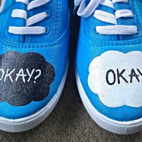 "The Fault in our Stars ""Okay? Okay"" Painted Shoes"