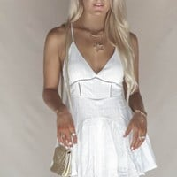 Infinite White Ruffle Mini Dress