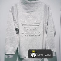 Adidas High Neck Tops Sweater Pullover Sweatshirt