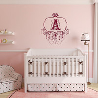 Wall Decal Monogram Chandelier Frame Style A Nursery Girls Room Vinyl Wall Decal 22507