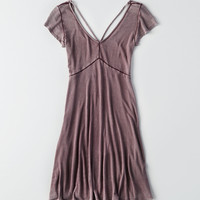 AEO Ribbed Knit Scoop Dress, Lively Lilac