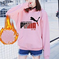 Puma Women Men Hooded Top Sweater Pullover Sweatshirt