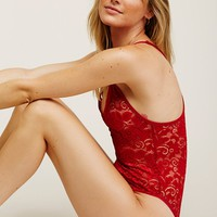 Free People Oh My Lace Bodysuit
