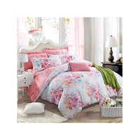 Bed Quilt Duvet Sheet Cover 4PC Set Upscale Cotton Sanded simple but elegant 2.0M 034
