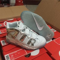 Nike Air More Uptempo White/silver Size 36  45 | Best Deal Online