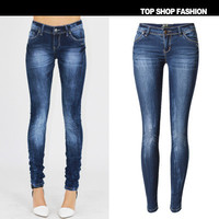 Women Slim Jeans Long Trousers Pants _ 1127